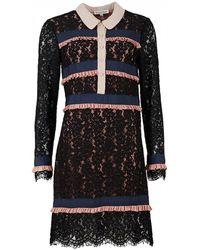 Silvian Heach - Redovon Lace And Frill Shirt Dress - Lyst