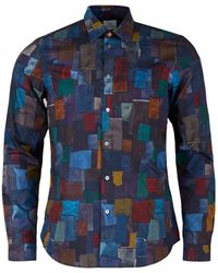 Paul Smith - Fabric Swatch Print Shirt - Lyst