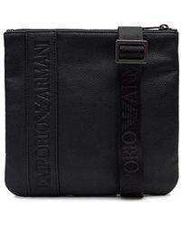 88cadab6884 Armani Jeans Logo Messenger Bag in Black for Men - Lyst