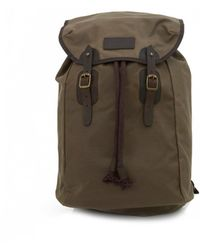 Barbour - Waxed Leather Backpack - Lyst