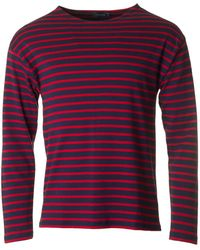 Armor Lux - Long Sleeved Striped Crew Neck - Lyst