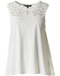 French Connection - Ekon Lace Jersey Top - Lyst