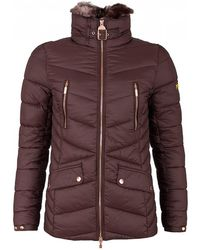 Barbour - Autocross Quilted Faux Fur Collar Jacket - Lyst