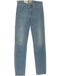Lee Jeans - Scarlett Mid Rise Slashed Skinny Jeans - Lyst
