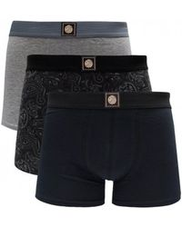 Pretty Green - 3 Pack Of Paisley Boxer Shorts - Lyst