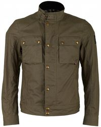 Belstaff - Race Master Short Waxed Nylon Jacket - Lyst