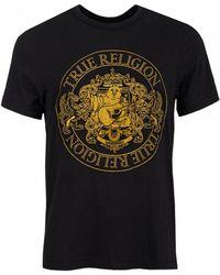 True Religion Embroidered Buddha Crest Crew