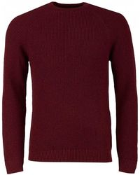 Barbour - Manor Crew Merlot Knitted Sweater - Lyst