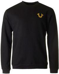 True Religion - Old Budda Crew Neck Sweatshirt - Lyst
