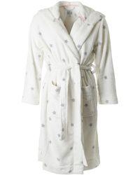 Joules - Fleece Dressing Gown - Lyst