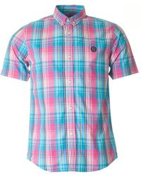 Marshall Artist - Madras Short Sleeved Check Shirt - Lyst