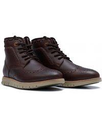 Barbour - Clement Leather Brogue Vibram Sole Boots - Lyst