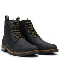 Barbour - Belsay Leather Brogue Boots - Lyst