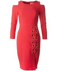 BOURNE - Cold Shoulder Lace Up Detail Dress - Lyst
