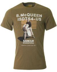 Barbour - Mil Flag Steve Mcqueen Crew Neck - Lyst