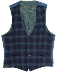 Remus - Livo Large Checked Waistcoat - Lyst