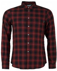 Paul Smith - Long Sleeved One Pocket Checked Shirt - Lyst