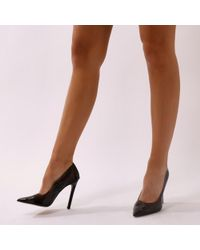 Public Desire - Extra Perspex Court Heels In Nude - Lyst