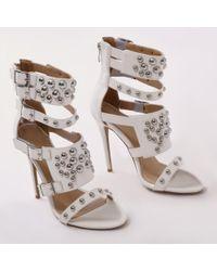 Public Desire - Gal Studded High Heels In White - Lyst