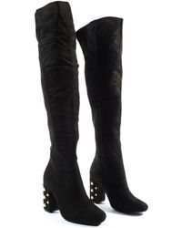 c90bee5ad13a Public Desire Mine Knee High Boots In White in White - Save 17% - Lyst