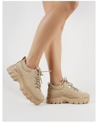 Public Desire - Vouch Chunky Trainers In Sand - Lyst