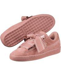 db5fc790ac8 PUMA - Suede Heart Satin Ii Women s Sneakers - Lyst