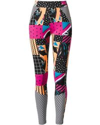 b7d539926b2a1a Lyst - Nike Glacier Aop Leggings in Black