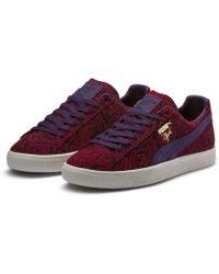 e94ccc8ce6d6 Lyst - PUMA Clyde Snake Embroidery in Red for Men