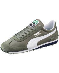 Puma Steel Grey Nylon Whirlwind Classic Striped Sneakers in Gray for ... aa292772f
