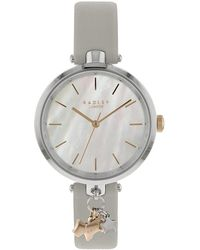 Radley - St Dunstan's Ash Grey Leather Watch - Lyst