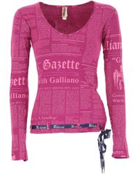 John Galliano - T-shirt For Women On Sale - Lyst