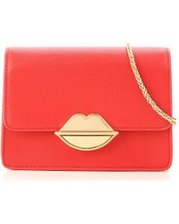 68f0bacc8218 Lyst - Marc Jacobs Mini Polly Flame Red Goat Leather Ayers Snakeskin ...
