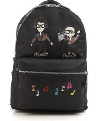 Dolce & Gabbana - Designers & Radio Patch Nylon Backpack - Lyst