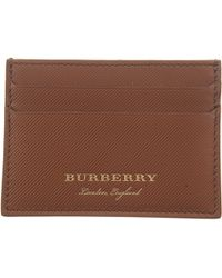 53d758d128a63 Lyst - Burberry Patterned Credit Card Holder in Brown for Men