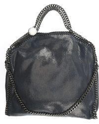 Stella McCartney Tote Bag Stella Logo en Eco-Cuir Jaune Fluo ABgZA