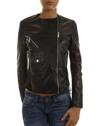 Pinko - Leather Jacket For Women On Sale - Lyst