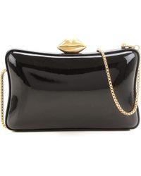 c0f1591421 Lulu Guinness Perspex Chloe Lipstick Box Clutch Bag in Red - Lyst