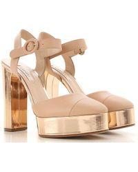 Casadei Femmes Blanc Lyst Sandals En Pour Nm8n0w