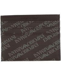 Emporio Armani - Porta Carte di Credito da Uomo In Saldo - Lyst