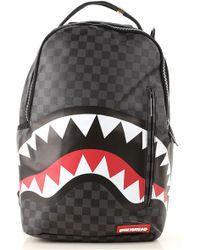 """Sprayground - Mochila """"black Checkered Shark In Paris"""" - Lyst"""