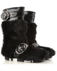 7a07a7738f4eb Miu Miu Bejeweled Heel Ankle Boots in Black - Lyst