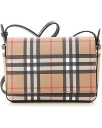 Lyst - Burberry Canterbury Bridle House Bag in Natural 64d3c7614ce0f