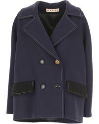 Marni - Women\'s Coat On Sale - Lyst