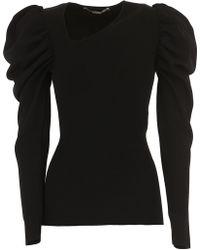 68004887e4cc7 Lyst - St. John Sale Tubular Jacquard Knit Pencil Skirt in Black