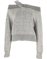 a2235668c7ba Lyst - ThePerfext Greenpoint Fringe Sweater in Gray