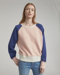 Rag & Bone - Colour Blocked Raglan Sweatshirt - Lyst