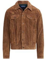 Polo Ralph Lauren - Suede Trucker Jacket - Lyst