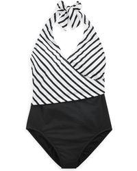 Ralph Lauren - Slimming Striped Swimsuit - Lyst