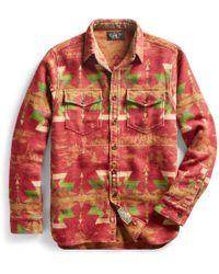 RRL - Brushed Jacquard Utility Shirt - Lyst