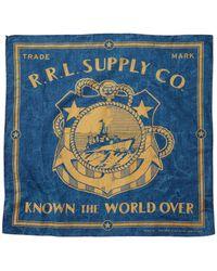 RRL - Naval Cotton Bandanna - Lyst